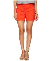 Vince Camuto Specialty Size Petite Cuffed Shorts Red Hot Women's Shorts