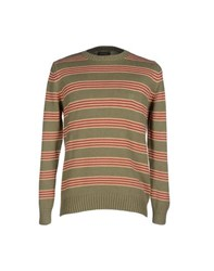 Henry Cotton's Knitwear Jumpers Men Military Green