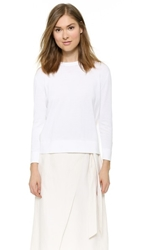 Jenni Kayne Long Sleeve Sweatshirt White