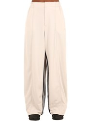 Y 3 Stripes Wide Leg Techno Pants White