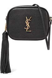 Saint Laurent Monogramme Blogger Leather Shoulder Bag Black