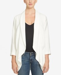 1.State Three Quarter Sleeve Open Front Jacket New Ivory