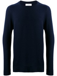 Pringle Of Scotland Off Gauge Cashmere Sweater Blue