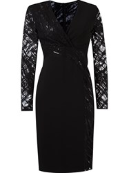 Giuliana Romanno Cache Coeur Sheath Dress Black