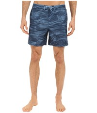 Original Penguin Tie Dye Print Volley Swim Shorts Dark Denim Men's Swimwear Navy