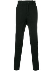 The Viridi Anne Jersey Panel Trousers Cotton Black