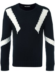 Neil Barrett Geometric Instarsia Knit Jumper Black