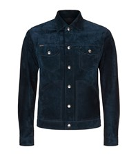 Tom Ford Suede Denim Jacket Male Blue