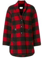 Etoile Isabel Marant Gino Oversize Coat Women Cotton Polyester Virgin Wool Other Fibers 38 Red