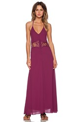 Toby Heart Ginger Frolic Maxi Dress Fuchsia
