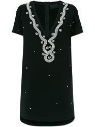 Andrea Bogosian Embellished T Shirt Dress Black