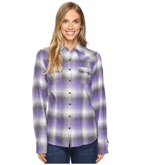 Cruel Arena Fit Plaid Long Sleeve Purple Women's Long Sleeve Pullover