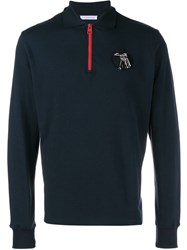 J.W.Anderson J.W. Anderson Ls Zip Polo Too Blue
