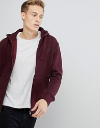 French Connection Zip Through Hoodie Red