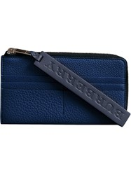 Burberry Grainy Leather Phone Case Blue