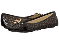 Michael Michael Kors Fulton Moc Cheetah Brown Cheetah Glitter Women's Flat Shoes Animal Print