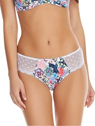 Freya Gypsy Rose Brazilian Briefs White Multi