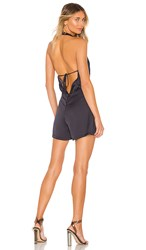 Kendall Kylie Halter Romper In Gray. Hammered Silver