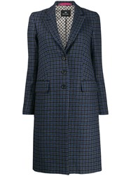 Paul Smith Ps Fitted Button Coat Blue