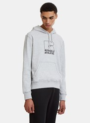 Russell Athletic Embroidered Logo Hooded Sweater Grey