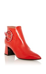 Pollini Red Calf Leather Boot