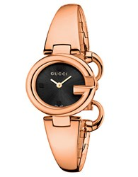 Ladies Guccissima Pink Goldtone Watch 27Mm Rose Gold