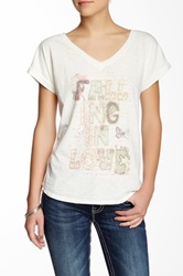 Miss Me Graphic Short Sleeve Tee White