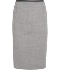 Austin Reed Monochrome Stitch Pencil Skirt Grey
