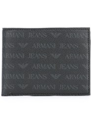 Armani Jeans Wallet And Keyring Pack Black