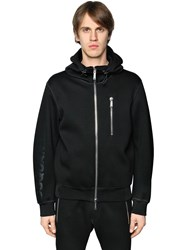 Dsquared Hooded Printed Viscose Jersey Sweatshirt
