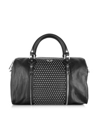Zadig And Voltaire Sunny Studs Black Leather Large Satchel W Shoulder Strap