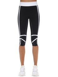 No Ka' Oi Fearless Stretch Techno Capri Pants Black