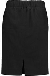 Halston Cotton Blend Voile Skirt