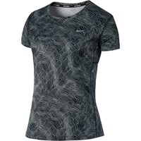 Nike Dry Miler Running Top Black White