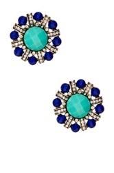 Stella Ruby Breakers Flower Clip On Earrings Green