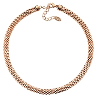 Finesse Rose Gold Plated Mesh Collar
