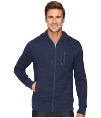 Prana Performance Fleece Zip Hoodie Dress Blue Men's Sweatshirt Navy