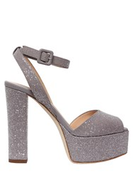 Giuseppe Zanotti 120Mm Glittered Leather Sandals