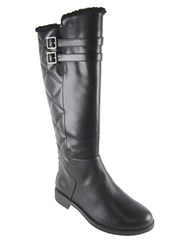 Taryn Rose Arnie Quilted Boots Black