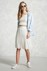 Forever 21 Tulle Embroidered Skirt Ivory Onerror Javascript Fnremovedom 'Colorid_02