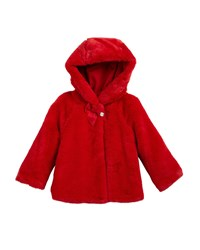 Mayoral Hooded Reversible Parka Jacket Size 12 36 Months Red