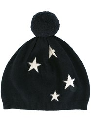 Chinti And Parker Star Intarsia Hat Blue