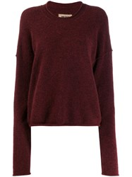 Uma Wang Worn Effect Sweater Red