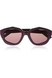 House Of Holland Square Peg Round Hole Square Frame Acetate Sunglasses Grape
