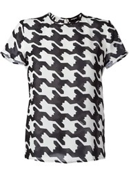 Dsquared2 Houndstooth Print T Shirt White