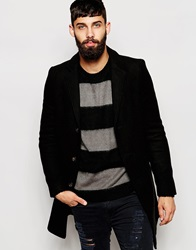 Only And Sons Wool Overcoat Black
