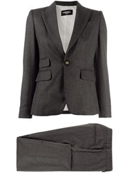 Dsquared2 Pinstriped Two Piece Suit Grey