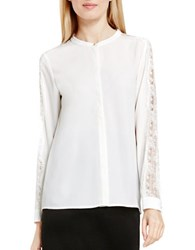 Vince Camuto Long Sleeve Button Up Blouse White