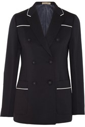 Bottega Veneta Wool Blend Blazer Midnight Blue