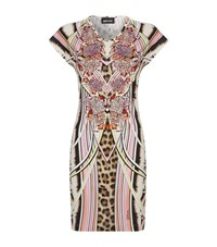 Just Cavalli Feather Mirror Print Dress Female